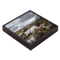Glen Coe beside River Coe, Framed Tile  JK_09_FT